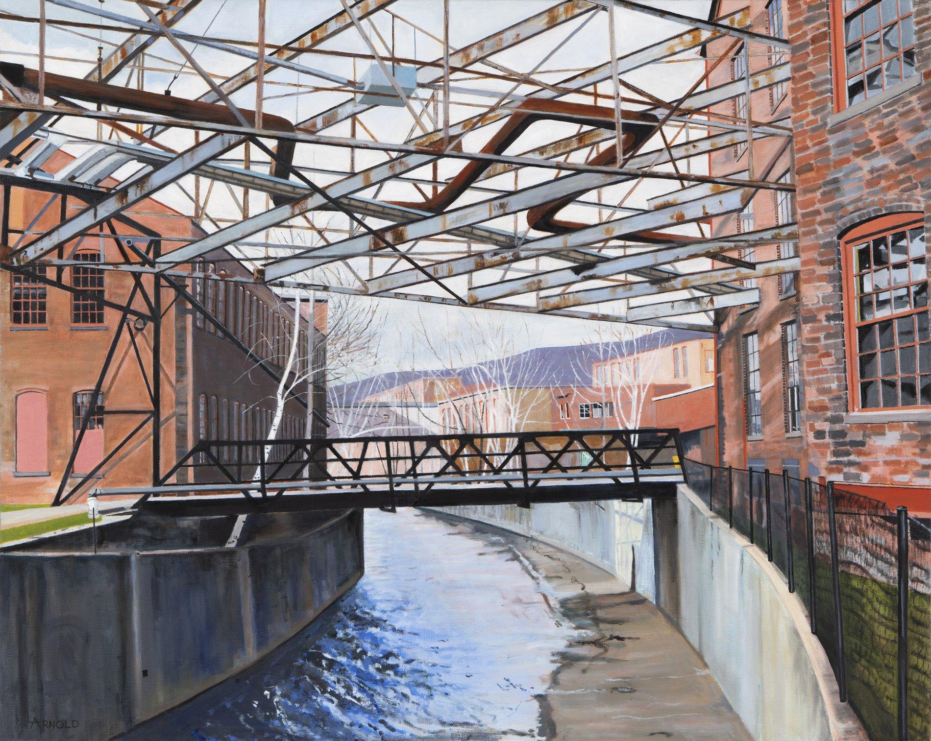 Canal, North Adams, MA., 24 x 30