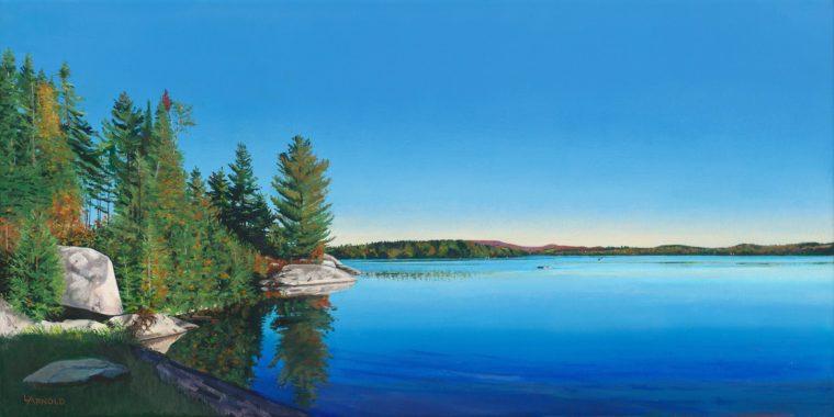 Caspian Lake From Huckleberry Rocks, 18x36
