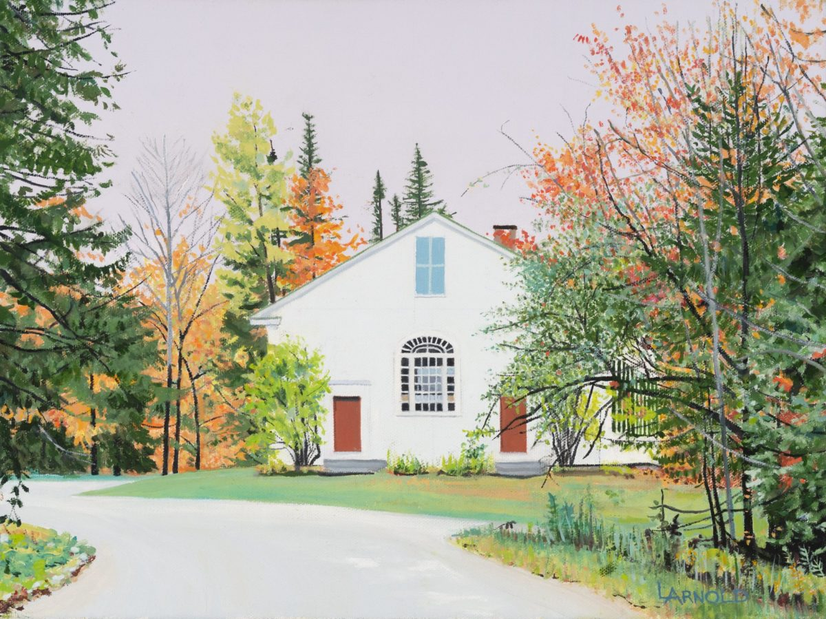 Church In The Woods, 12″ X 16″