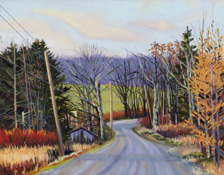 Country Road, Fall, 22 X 28