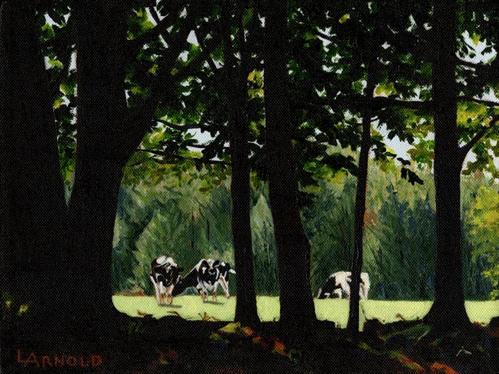 Cows Grazing II