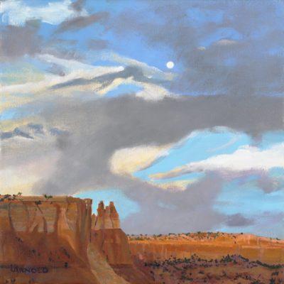 Full Moon At Ghost Ranch, 12x12