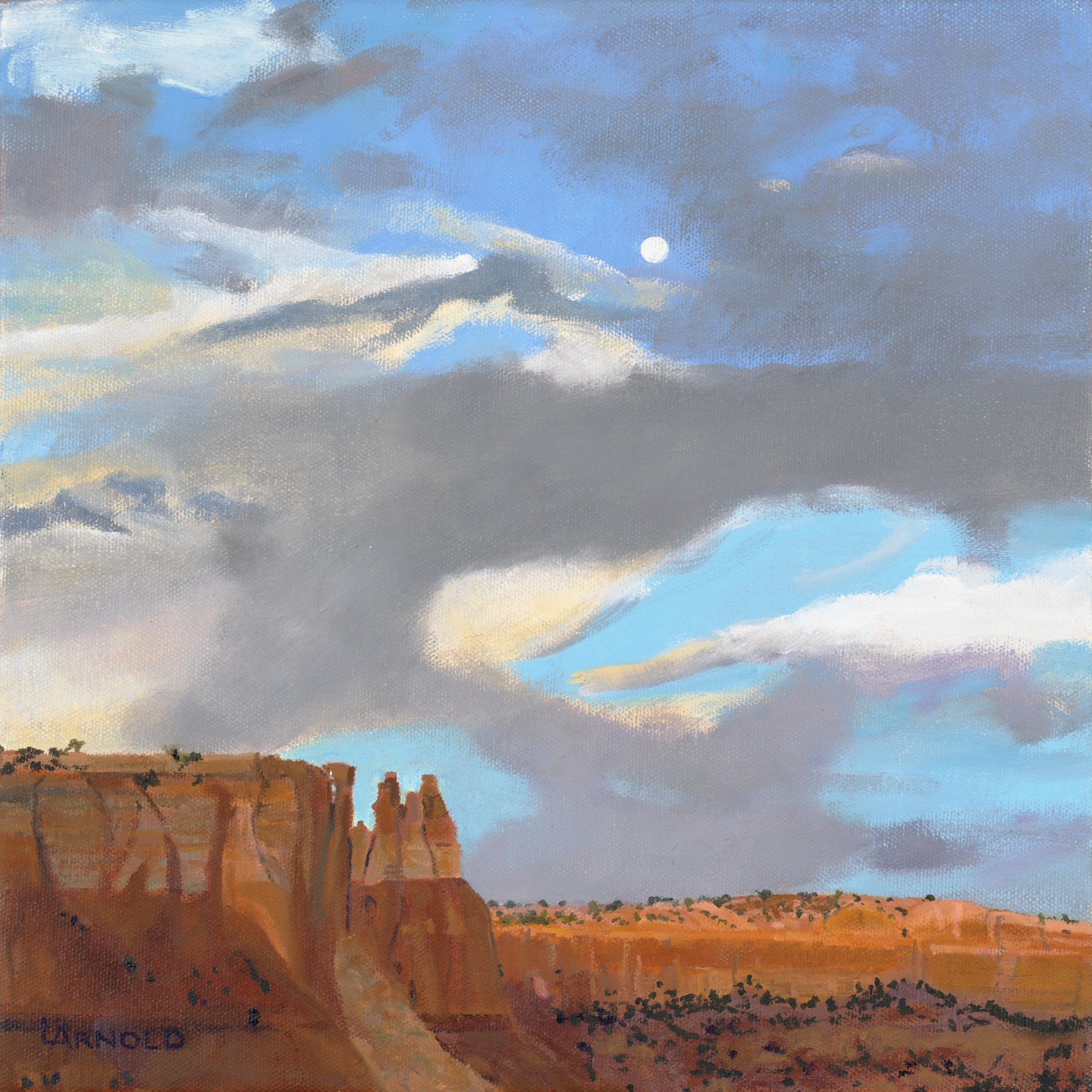 Full Moon at Ghost Ranch, 12x12