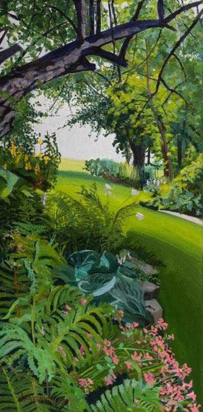 Garden With Ferns, 16 X 8