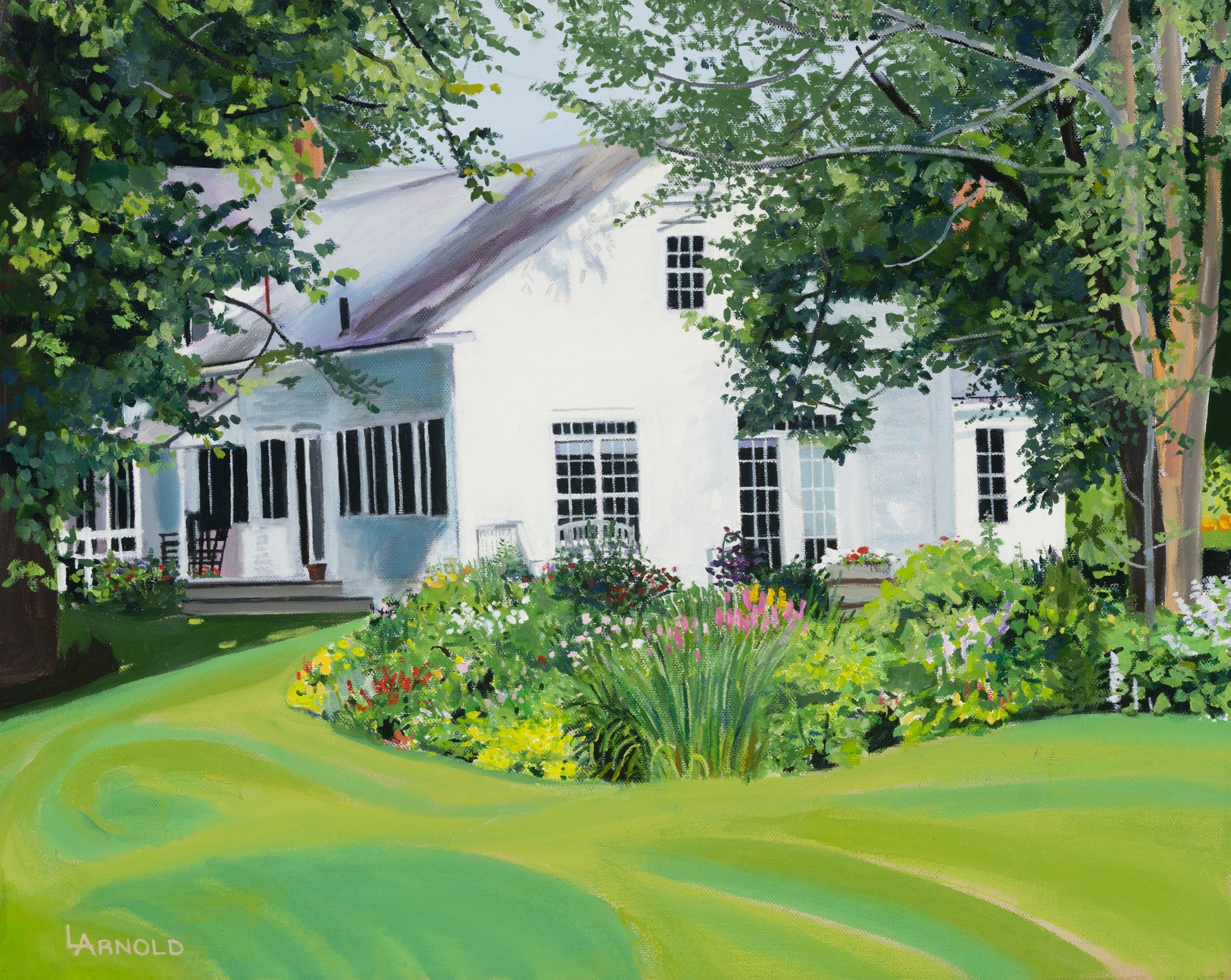 House and Garden, 16 x 20