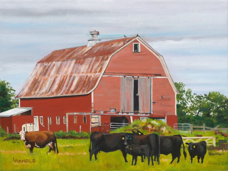 How Now Brown Cow, 12x16