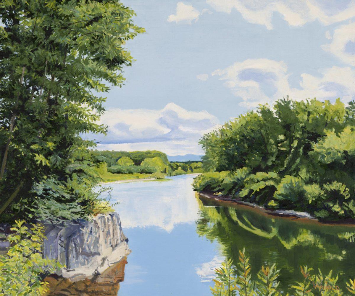 Lamoille River At Hyde Park, VT 20″ X 24″