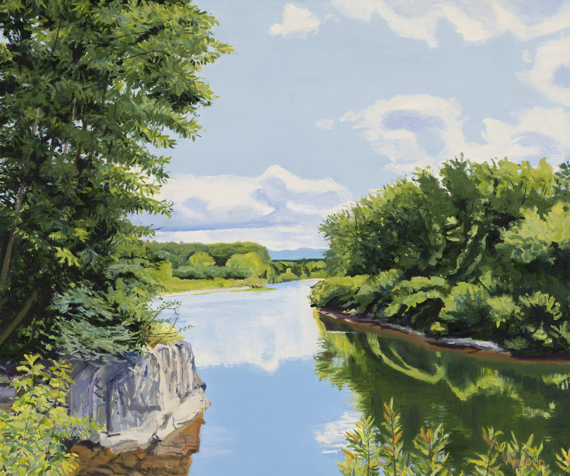 Lamoille River at Hyde Park, VT 20 x 24