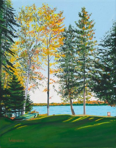 Late Afternoon Lakeside, 14x11