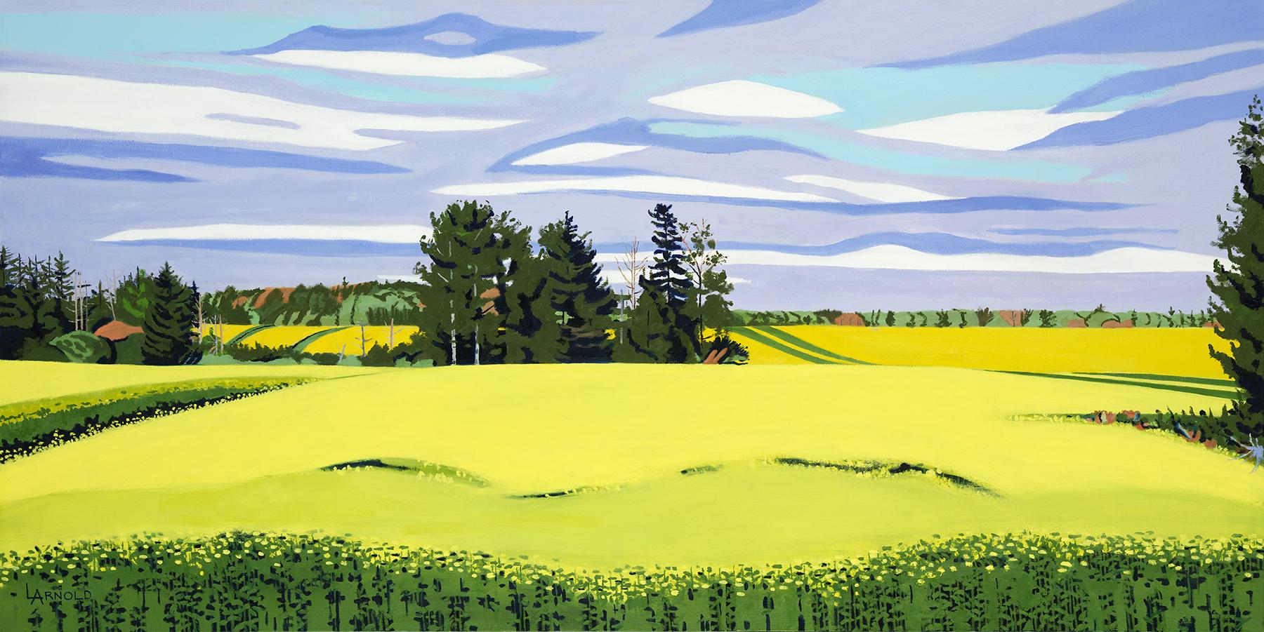 """Mustard Field II, PEI, 24"""" x 48"""""""