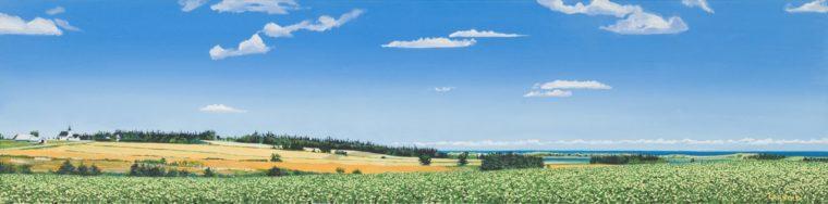 Potato Fields By The Ocean, 12x24