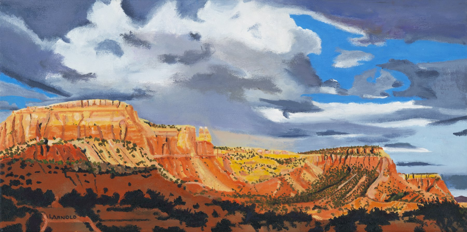 Redrock Cliffs Ghost Ranch, 12x24