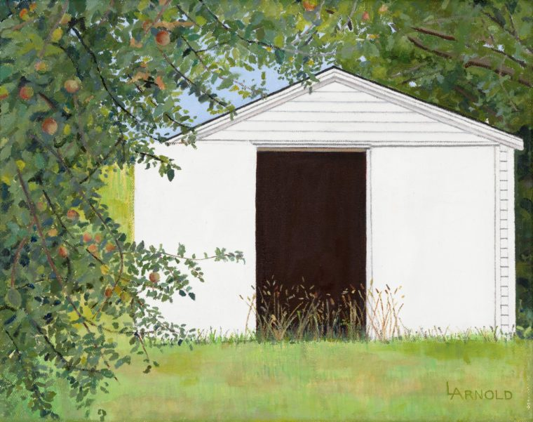 Shed And Apple Tree, 11x14