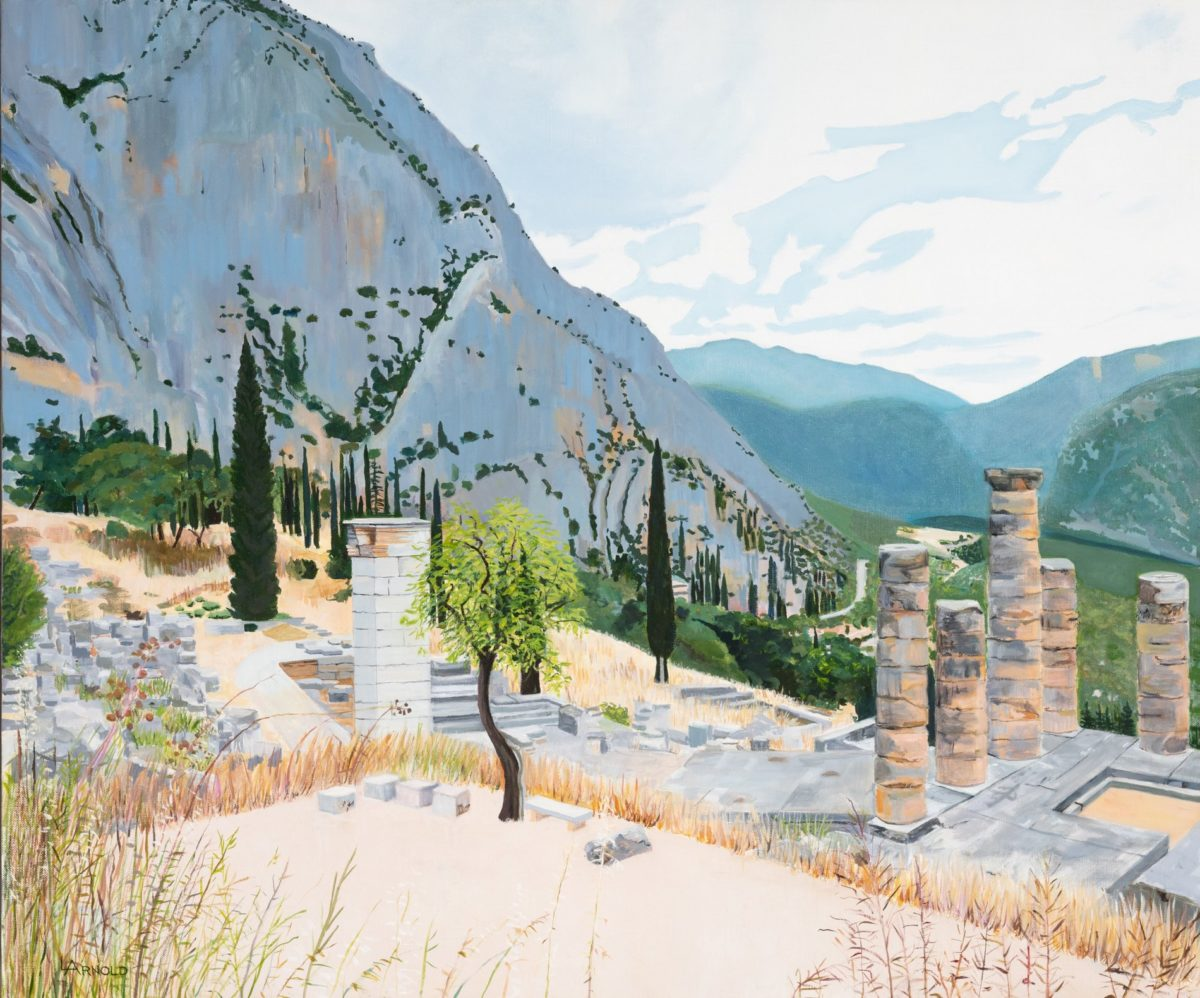 View From Delphi, 30″ X 36″