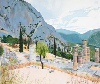 View From Delphi, 30 X 36, Oil On Linen