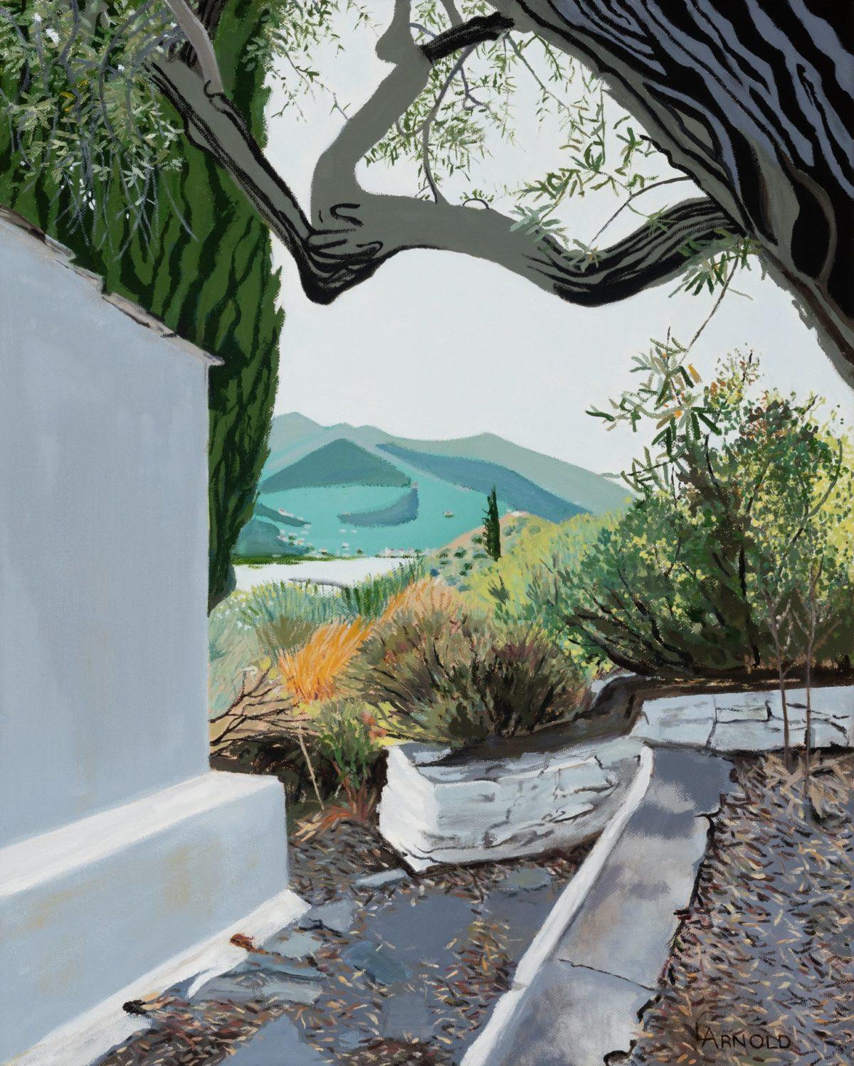View From Skopelos, Greece, 20″ X 16″