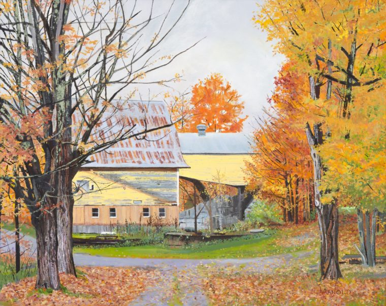 Yellow Barn, 22x28