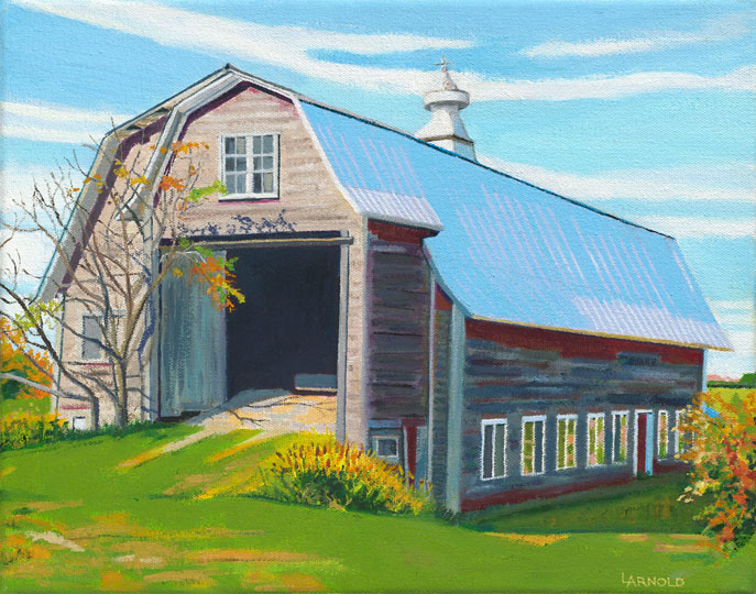 Barn With Blue Roof